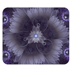Amazing Fractal Triskelion Purple Passion Flower Double Sided Flano Blanket (small)  by jayaprime
