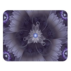Amazing Fractal Triskelion Purple Passion Flower Double Sided Flano Blanket (large)