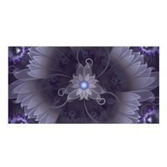 Amazing Fractal Triskelion Purple Passion Flower Satin Shawl by beautifulfractals
