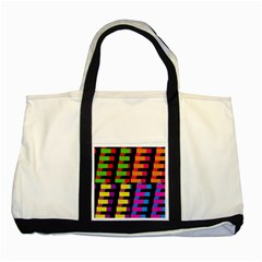 Colorful Rectangles And Squares                        Two Tone Tote Bag by LalyLauraFLM