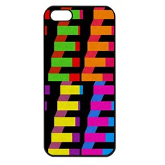 Colorful Rectangles And Squares                  Apple Iphone 5 Seamless Case (black) by LalyLauraFLM