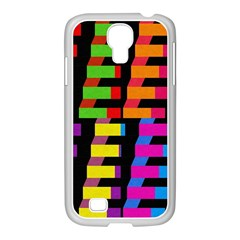 Colorful Rectangles And Squares                  Samsung Galaxy Note 2 Case (white) by LalyLauraFLM