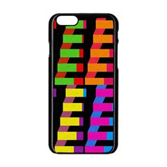 Colorful Rectangles And Squares                  Apple Iphone 6/6s White Enamel Case by LalyLauraFLM