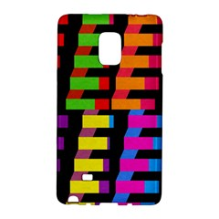 Colorful Rectangles And Squares                  Samsung Galaxy Note 4 Leather Folio by LalyLauraFLM