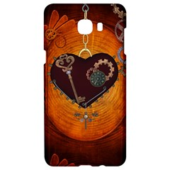 Steampunk, Heart With Gears, Dragonfly And Clocks Samsung C9 Pro Hardshell Case  by FantasyWorld7