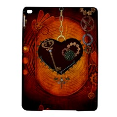 Steampunk, Heart With Gears, Dragonfly And Clocks Ipad Air 2 Hardshell Cases by FantasyWorld7