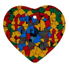 Stained Glass                        Ornament (heart) by LalyLauraFLM