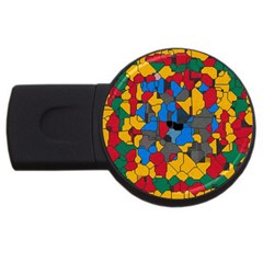 Stained Glass                        Usb Flash Drive Round (2 Gb) by LalyLauraFLM
