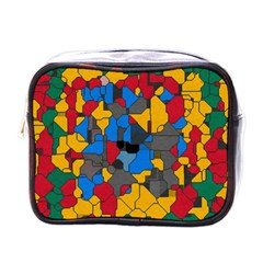 Stained Glass                        Mini Toiletries Bag (one Side) by LalyLauraFLM