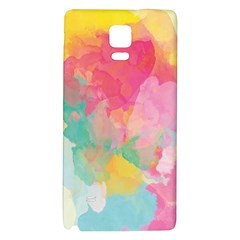 Pastel Watercolors Canvas                  Samsung Galaxy Note Edge Hardshell Case by LalyLauraFLM