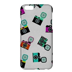 Old Cameras Pattern                  Apple Iphone 6 Plus/6s Plus Enamel White Case by LalyLauraFLM