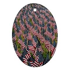 Repetition Retro Wallpaper Stripes Ornament (oval)