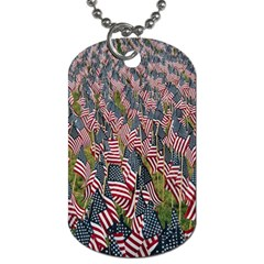 Repetition Retro Wallpaper Stripes Dog Tag (two Sides)
