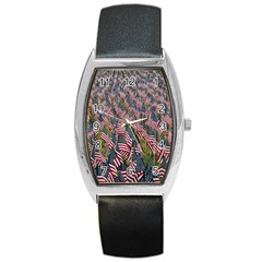 Repetition Retro Wallpaper Stripes Barrel Style Metal Watch by BangZart