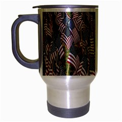 Repetition Retro Wallpaper Stripes Travel Mug (silver Gray) by BangZart