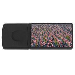 Repetition Retro Wallpaper Stripes Usb Flash Drive Rectangular (4 Gb) by BangZart