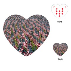 Repetition Retro Wallpaper Stripes Playing Cards (heart)  by BangZart