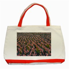 Repetition Retro Wallpaper Stripes Classic Tote Bag (red) by BangZart