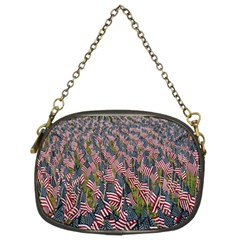 Repetition Retro Wallpaper Stripes Chain Purses (two Sides)