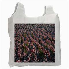 Repetition Retro Wallpaper Stripes Recycle Bag (two Side)