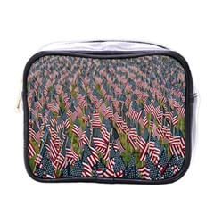Repetition Retro Wallpaper Stripes Mini Toiletries Bags
