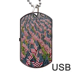 Repetition Retro Wallpaper Stripes Dog Tag Usb Flash (one Side) by BangZart