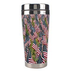 Repetition Retro Wallpaper Stripes Stainless Steel Travel Tumblers