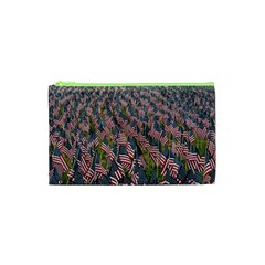 Repetition Retro Wallpaper Stripes Cosmetic Bag (xs) by BangZart