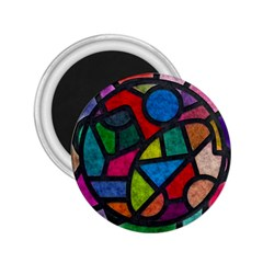 Stained Glass Color Texture Sacra 2 25  Magnets