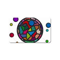 Stained Glass Color Texture Sacra Magnet (name Card) by BangZart
