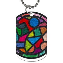 Stained Glass Color Texture Sacra Dog Tag (one Side) by BangZart