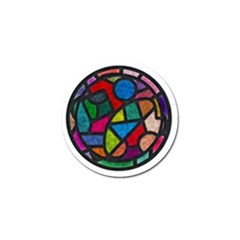 Stained Glass Color Texture Sacra Golf Ball Marker
