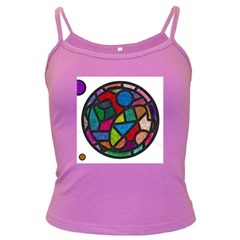 Stained Glass Color Texture Sacra Dark Spaghetti Tank by BangZart