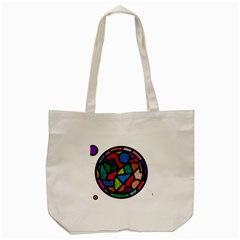 Stained Glass Color Texture Sacra Tote Bag (cream) by BangZart