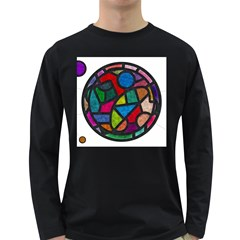 Stained Glass Color Texture Sacra Long Sleeve Dark T Shirts