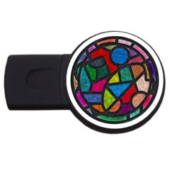 Stained Glass Color Texture Sacra Usb Flash Drive Round (4 Gb) by BangZart