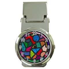 Stained Glass Color Texture Sacra Money Clip Watches by BangZart