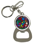Stained Glass Color Texture Sacra Button Necklaces Front