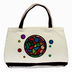 Stained Glass Color Texture Sacra Basic Tote Bag by BangZart