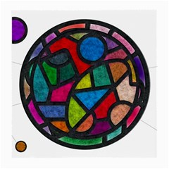 Stained Glass Color Texture Sacra Medium Glasses Cloth
