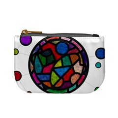Stained Glass Color Texture Sacra Mini Coin Purses by BangZart