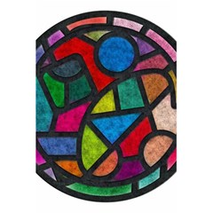 Stained Glass Color Texture Sacra 5 5  X 8 5  Notebooks by BangZart
