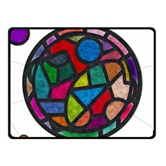 Stained Glass Color Texture Sacra Fleece Blanket (small)