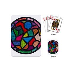 Stained Glass Color Texture Sacra Playing Cards (mini)