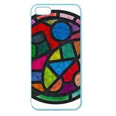 Stained Glass Color Texture Sacra Apple Seamless Iphone 5 Case (color)