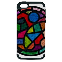 Stained Glass Color Texture Sacra Apple Iphone 5 Hardshell Case (pc+silicone)