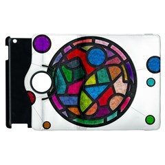 Stained Glass Color Texture Sacra Apple Ipad 2 Flip 360 Case by BangZart