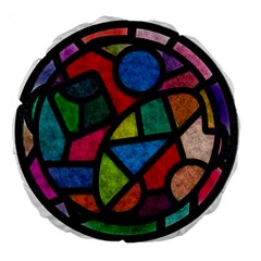 Stained Glass Color Texture Sacra Large 18  Premium Round Cushions by BangZart