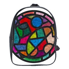Stained Glass Color Texture Sacra School Bags (xl)  by BangZart