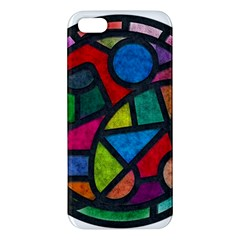 Stained Glass Color Texture Sacra Apple Iphone 5 Premium Hardshell Case by BangZart